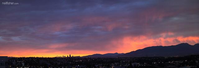 Vancouver Fiery Sky