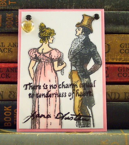Jane Austen Heart Quote ATC