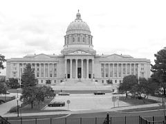 Missouri State Capitol in Black and White