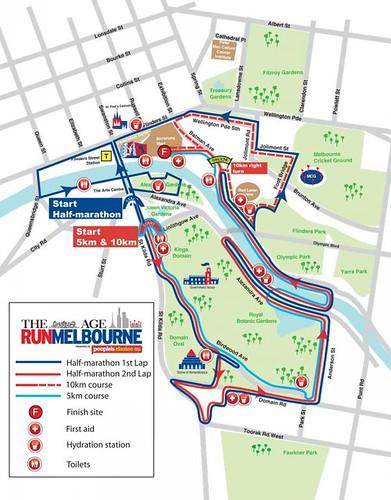 Run Melbourne 2013 Map