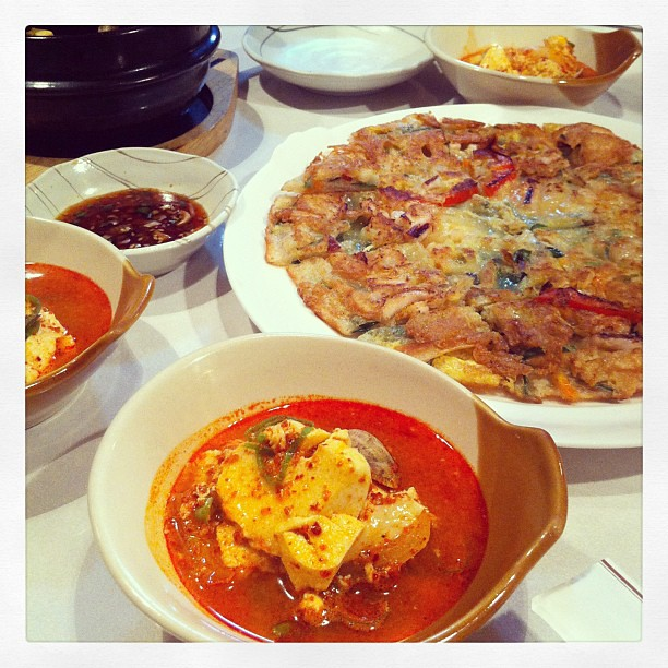 Reconnecting friends from jr high school over yummy Korean dinner tonight:) too much to catch up for just one nite..