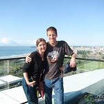 Dan and Audrey at Moses Mabhida Stadium - Durban, South Africa
