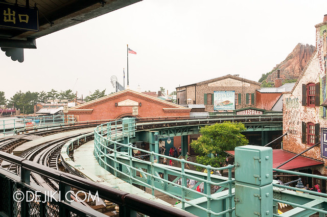 American Waterfront - Disneysea Electric Railway - track view