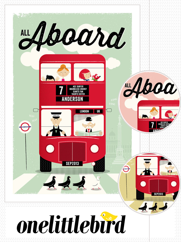 sponsor spotlight : All Aboard print by One Little Bird | Emma Lamb