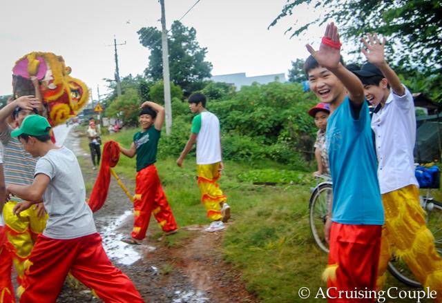 Visit Vietnam Waving Lion Dancers