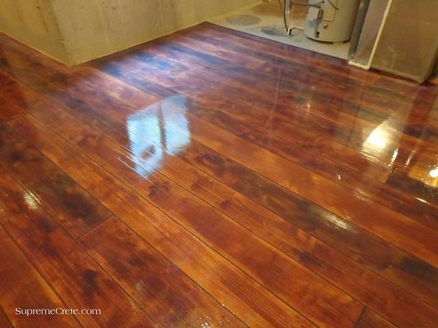 Finished Wood Concrete Basement Floor Flickr Photo Sharing