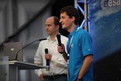 Manuel Metz (DLR) und Holger Krag (ESA) / Manuel Metz (DLR) and Holger Krag (ESA)