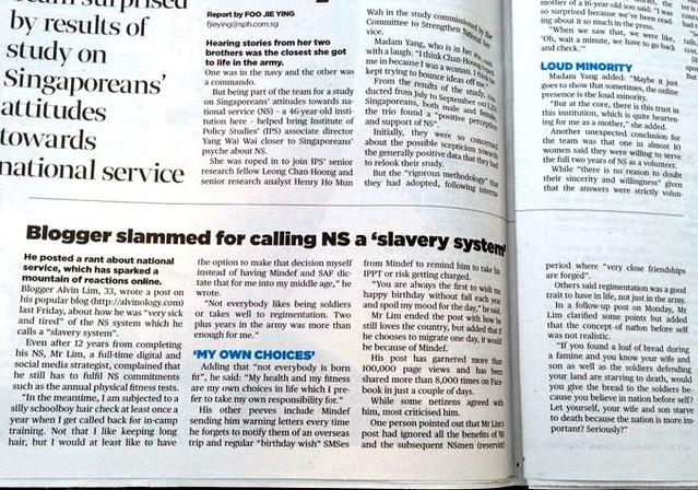 """Blogger slammed for calling NS a """"slavery system""""?  - Alvinology"""