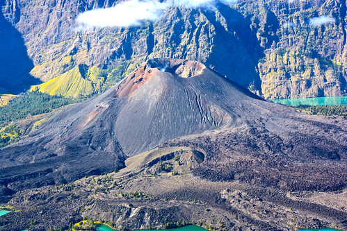 a volcano within a volcanic crater!