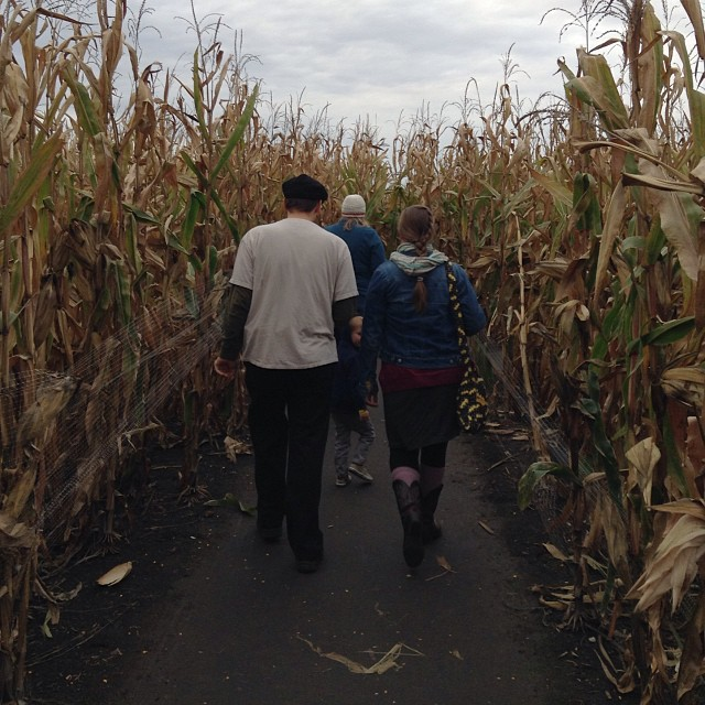 My siblings and I went to #jonamac #cornmaze. It's been a few years since we've done it. My fitbit says it was about 4,000 some steps. Also of note, this maze (the night time haunted version) was recently featured on #theOnion