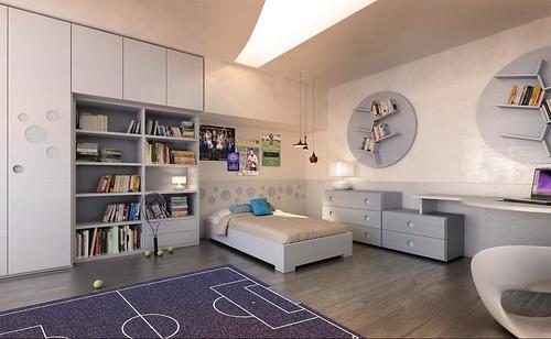 PLAY UP, the teenager room by MAZZALI. La cameretta. by MAZZALIARMADI.IT