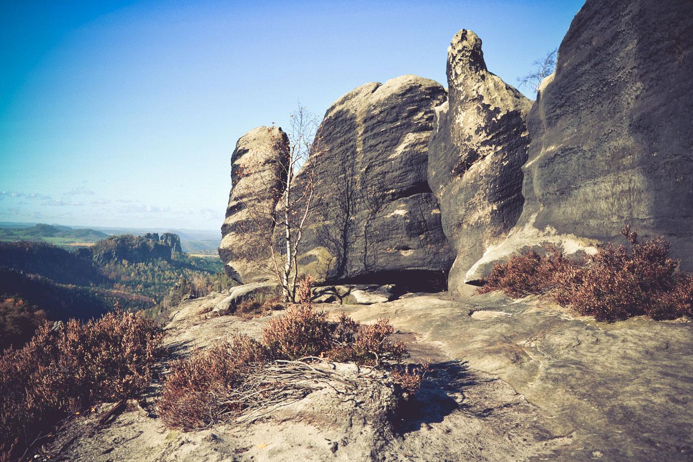 Auf dem Carola-Felsen