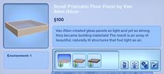 Small Prismatic Floor Panel by Van Allen Decor