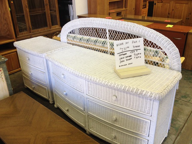 Sold san jose pier 1 white wicker bedroom set 235 3 - Pier one white wicker bedroom furniture ...
