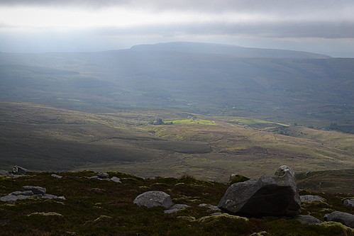 ireland sun mountain rural landscape view plateau empty bleak cavan cuilcagh