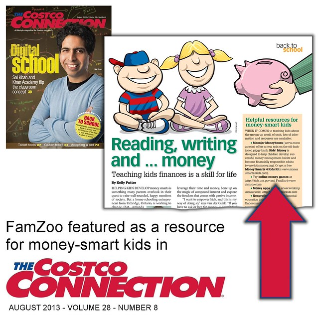FamZoo Featured in August 2013 Costco Connection
