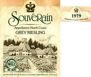 Souverain Grey Riesling 1979