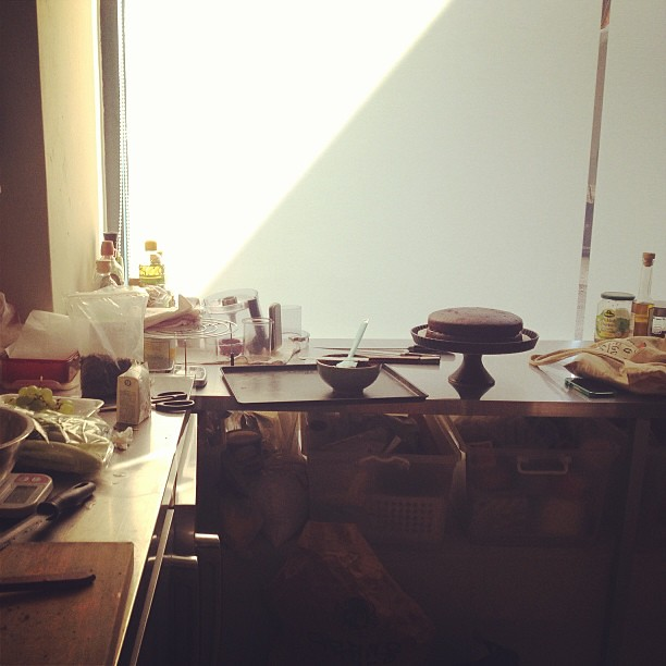 Morning light in the studio. my fave time to bake.