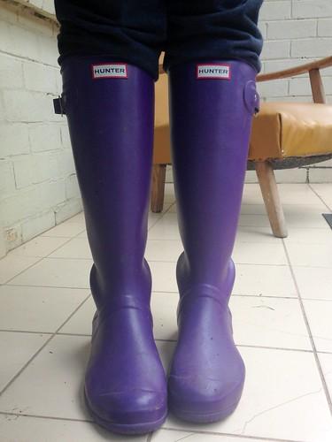 Purple Gumboots