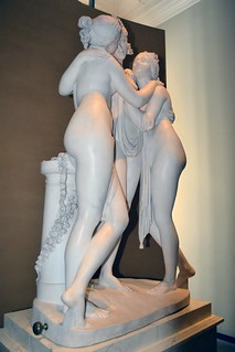 Antonio Canova (1757-1822) - The Three Graces, Woburn Abbey version (1814-1817) front left, Victoria and Albert Museum, August 2013