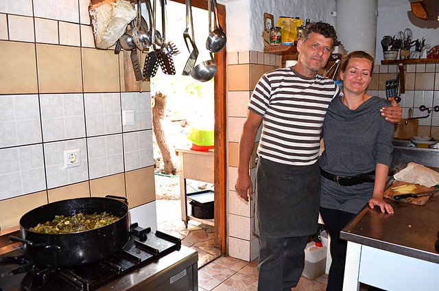 Mate and Mihaela Tudor, Kanoba Lambik Restaurant, Milna, Hvar, Croatia