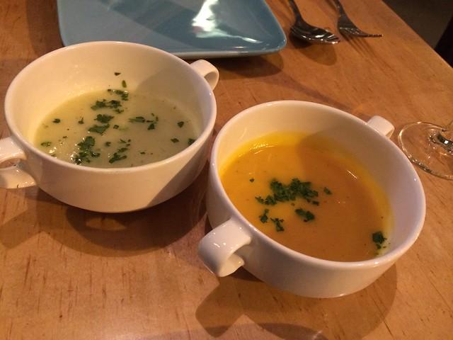 Jerusalem artichoke and butternut squash soups - Radio Africa & Kitchen