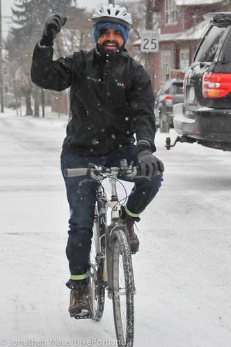 Snow scenes in Portland-7