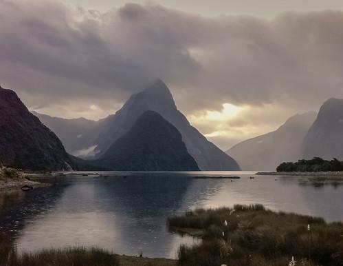 Milford Sunset, New Zealand