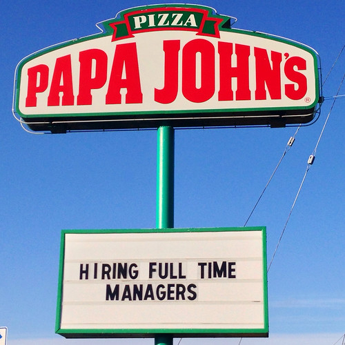 Papa John's now hiring managers
