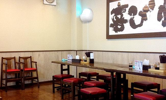 「こだわり麺や 宇多津店」の内装