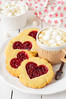 Homemade Cookies with Heart-Shaped Center and a Cup of Hot Chocolate by dolphy_tv