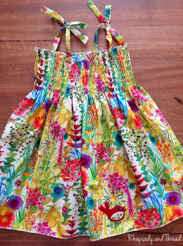 Isla's Liberty Christmas Dress by Rhapsody and Thread