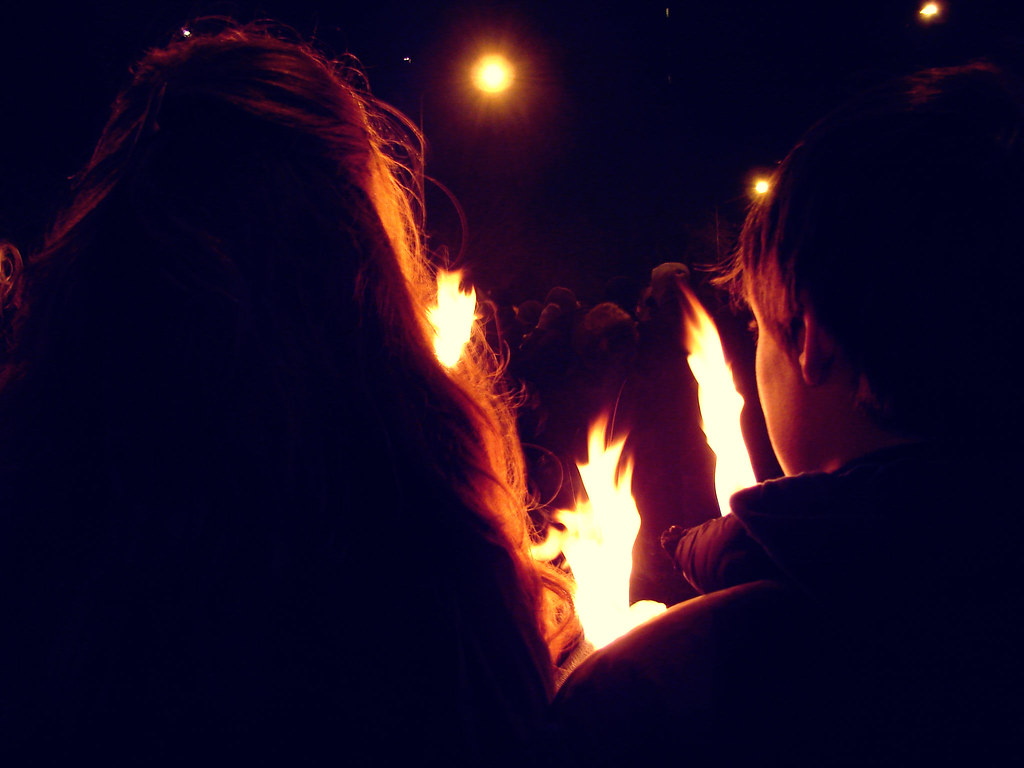 Torchlight procession, Edinburgh