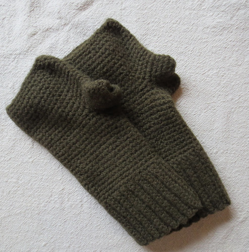 Felted Fingerless Gloves