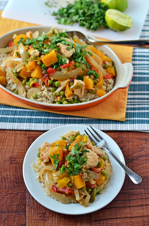 Slow Cooker Thai Chicken. Healthy crock pot recipe loaded with flavor.