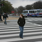 Crossing the crosswalk