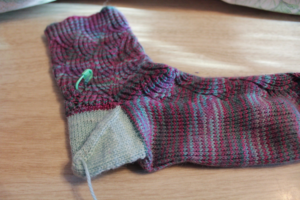 new afterthought heel in sock