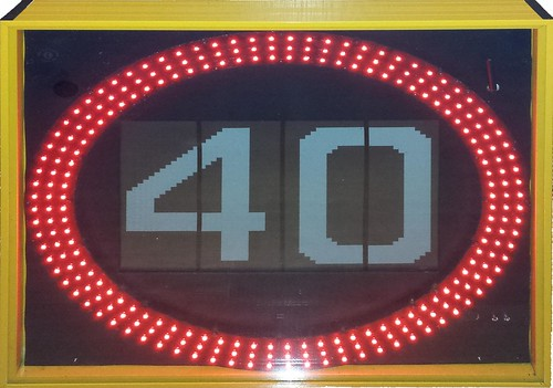 Speed Limit Close Up High Res Red LED