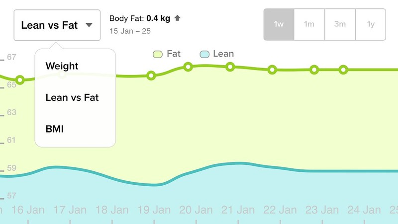 Fitbit iOS App - Lean vs Fat