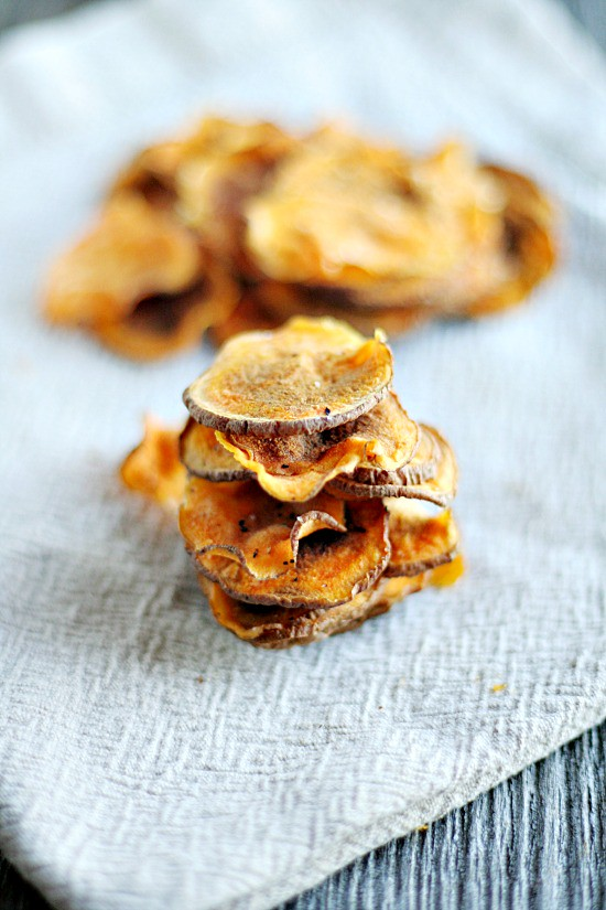 5 minute sweet potato chips