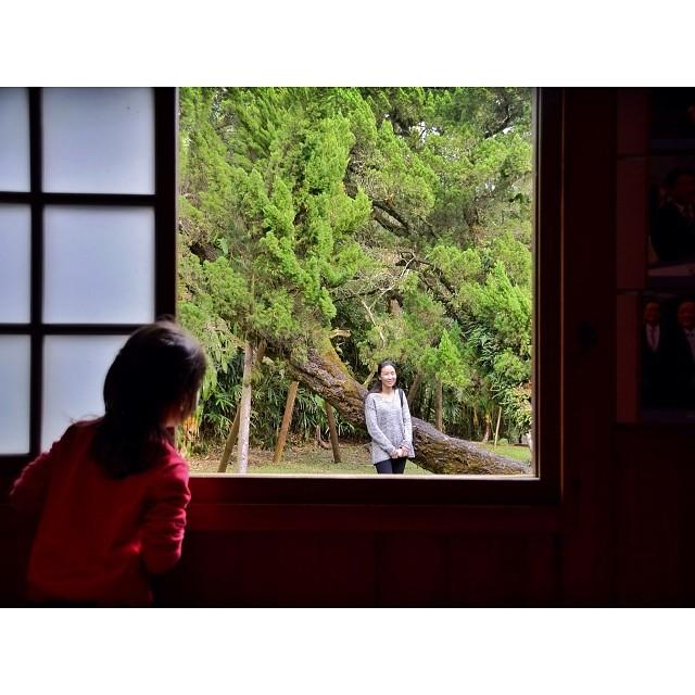 My daughter looked at her mother in the window. 我的女兒站在一扇木窗前看著媽媽,媽媽甜蜜地對著寶貝女兒笑著。這張照片攝于日月潭的涵碧樓舊址。 #台灣 #南投 #魚池鄉 #日月潭 #涵碧樓 #taiwan #nantou #yuchi #sunmoonlake #thelalu #daughter #mother #love #window #mychiagram #captchina #ig_mood #ig_photoflair #ig_hongkong