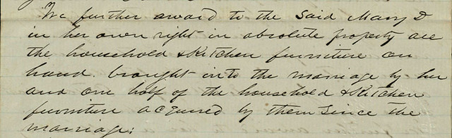 Detail of Sneed-Patton divorce settlement, 1860 January 10
