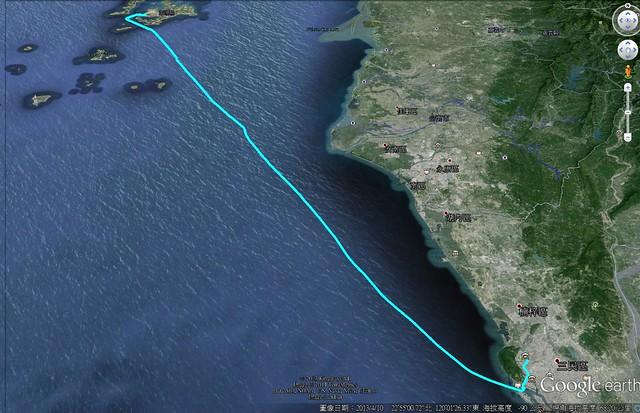 高雄返回澎湖路線圖