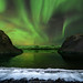 Aurora Activity with Stone Red Indian in Iceland by noomplayboy