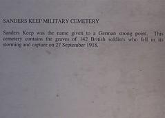 Sanders Keep Military Cemetery