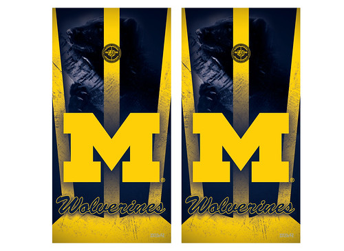 Michigan Cornhole Game Decal Set