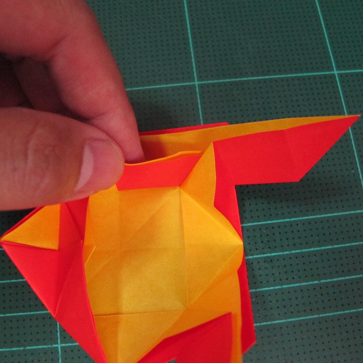 สอนวิธีพับกระดาษเป็นดอกกุหลาบ (แบบฐานกังหัน) (Origami Rose - Evi Binzinger) 017