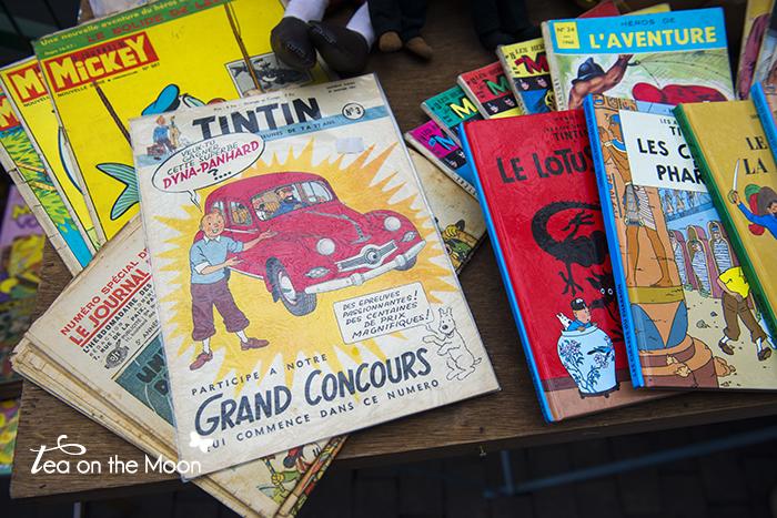 Paris mercado de las pulgas saint ouen tintin