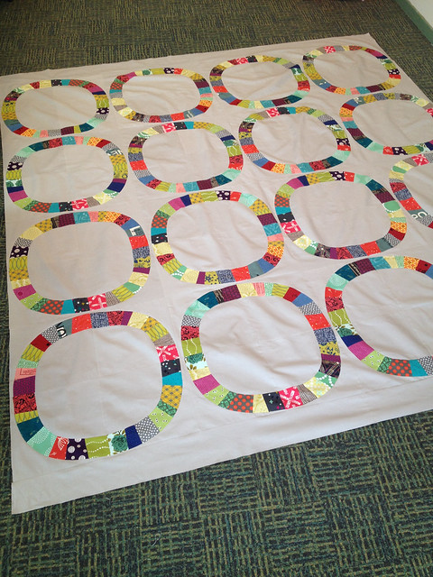 Single girl quilt top