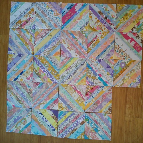 Vintage Sheet String Blocks (paper pieced)